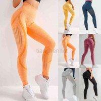 Leggings de cintura de alta cintura feminina calças de yoga alto treino de cintura Texturizado montanhas costas corredores mulheres calças de yoga