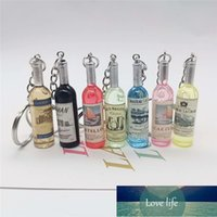 7Pcs Lot Tiny Vintage Wine Bottle Key Chains Women Men's Key Ring Trinket Souvenirs Beer Keychain Party Jewelry Wholesale Factory price expert design Quality Latest