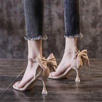 Dress Shoes 1 Pair Bowknot Decor Women Sandal Open Toe Fashion High-heeled Summer For Party