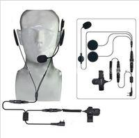 2-контактный PTT Microphone гарнитура, шлем Kenwood, вытягивая Tyt Midland двусторонняя, CB ветчина, радио и проезжающие разжигания Baofeng UV-5R гоночный мотоцикл