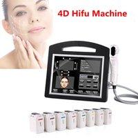 Портативная высокая интенсивность сфокусированная ультразвуковая 4D Hifu машина 12 линий 20000 снимки SMAS лица, подъемная кожа, затянуть монтаж морщин для удаления тела для похудения