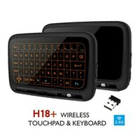 H18+ Air Mouse Wireless Keyboard Full Screen Press 2.4G Touchpad With Backlight For PC Laptop Android TV Keyboards