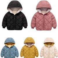 Autumn Winter Children Down Jacket Boys Girls Fashion Thick Warm Baby Hooded Outwear Kids Cotton Coat 2-7 Year 210914