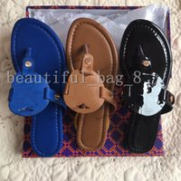 Zapatillas planas de las mujeres de alta calidad Luxurys Designers Sandals Cuero Marca niña Diapositivas Sandalias Casual Flip Flops Tamaño 35-43 con caja