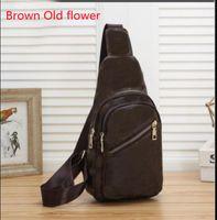 Alta Qualidade Brown Floral Impressão Handmade Moda Cintura Sacos Homens Sling Saco Cross Body Messenger 4 Cores Ao Ar Livre Mulheres Embalagem Peito