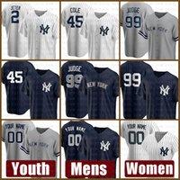 New Mens York Mulheres Yankees Juventude Jersey 99 Aaron juiz personalizado 45 Gerrit Cole 2 Derek Jeter 26 DJ Lemahieu 11 Brett Gardner Top