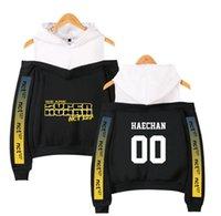 Women's Hoodies & Sweatshirts NCT 127 WE ARE SUPERHUMAN Off-the-shoulder Hooded Shirt Sweatshirt Casual Wear Trendy Leisure Ms Apparel