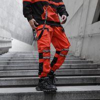 Pantalón Masculino Swearswear Streetwear Hip Hop Joggers Hombres Pantalones de carga Bolsillos 2021 Negro Pista Tactical Táctica Cintas Para Hombres