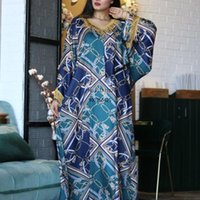 Ethnic Clothing African Print Dresses Clothes For Women Dashiki Turkey Abaya Dubai Muslim Africa Dress Traditional Wear Jalabiya Femme Afric