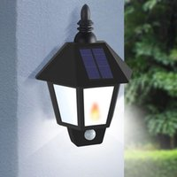 Solar Lamps Two Modes Garden Flame Light Led Sensor Wall Lamp Street Lights Power Outdoor Waterproof Luminaria Battery