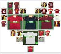 1996 1997 1998 1999 2000 Roma Retro soccer jersey 1992 1994 TOTTI NAKATA BATISTUTA Candela Montella BALBO 91 92 94 rome Maglia da calcio