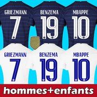 2021 벤즈마 MBappe 축구 유니폼 Griezmann Pogba 축구 셔츠 2022 Kante Kimpembe Maillot de Foot Hernandez Pavard Varane Aouar Tolisso