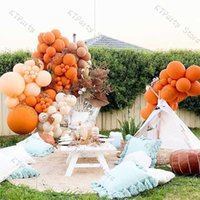 132pcs Halloween Decor Matte Orange Blush Nude Balloons Garland Arch Kit Wedding Decoration Baby Shower Birthday Party Supplies H0910