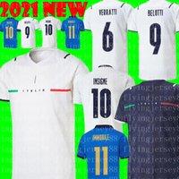 Italia Soccer Jersey 2021 2022 Italia Barella Sensi Insigne 20 21 22 European Euro Cup Chiellini Bernardeschi Camicie da calcio Uomini Uniformi