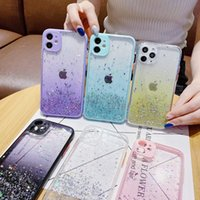 Glitter bling Case For iphone 13 12 Pro Max 12 mini 11 XS Max XR Soft clear Protect Camera Cover For iphone 13 SE 2020 7 8 6 6S Plus