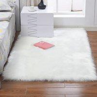 Super suave alfombra esponjosa amplia área alfombra de piel artificial decoración del hogar moderno sólido sala de estar dormitorio