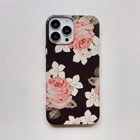360 Full Cases For iPhone 13 12 11 Pro X XR XS Max 7 8 Plus SE Ultra Thin Slim Hard Retro Rose Flower Phone Case