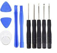 10 en 1 Reparación de herramientas de apertura con 5 puntos Star Pentalobe Torx Destornillador para iPhone 4 5 para Samsung