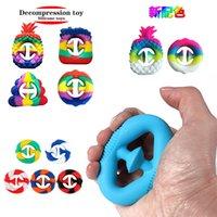 ABD Stok Otizm BT Antistres Yumuşak Silika Jel Fidget Parmak Oyuncaklar Yatıştırıcı Dekompresyon Oyuncak Sal Yetişkin Çocuk Oyun Hediyeler