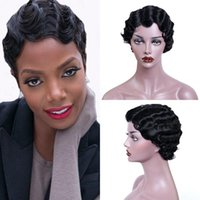 Synthetic Wigs Women Short Black Curly Wavy Wig Heat Resistant Fiber For Daliy Party Use Nature Looking