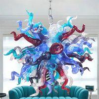 Art Deco Lamps for Living Room Hand Blown Murano Glass Chandelier Lighting Luxury Pendant Lights Lamp Home Bedroom Decoration