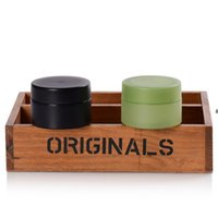 50g Black Green Matte Plastic Cosmetic Jars Bottles Travel Size Containers For holding Lip Balm, Aloe vera gel HHB6966