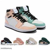 Retro Kadın Erkek Kid 1s Erkek GS Orta Basketbol Ayakkabıları Siyah Toe Ne Kadar Tüm Üstü Jumpman Logos Mandarin Ördek Spor Sneaker Boyutu 4Y-Erkekler US11