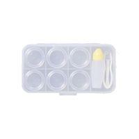 6 grilles Contact Lens Kit de voyage Portable Petit autocollant de conteneur transparent