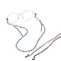 Retro Renkli Cam Boncuk Zincirleri Kaymaz Gözlük Zincir Güneş Gözlüğü Halat Boyun Gözlük İpi Kayışı Kordon Gözlük Aksesuarları 311397