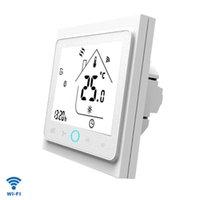 Smart Home Control Touch Touchage d'eau Thermostat électrique WiFi Rétro-éclairé LCD Climatiseur pour Google