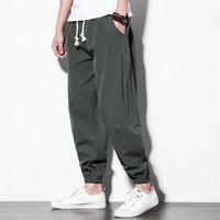 Самурайский китайский мужской леггинсы этнической одежды Винтаж японский азиатский стиль брюки для мужчин