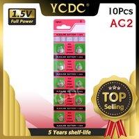 YCDC 10 قطع 1.55 فولت ag2 LR726 396 زر البطاريات SR726 196 خلية عملة القلوية بطارية SG2 SR9 726 LR59 للاشاشة ألعاب حاسبة
