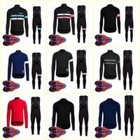 RAPHA team Cycling long Sleeves jersey bib pants sets Bike Clothes Breathable MTB ropa ciclismo Quick Dry U82825