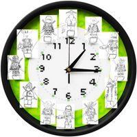 Wall Clocks Originality Children's Building Block Clock Room Bedroom Creativity Super Quiet Cartoon Cute Kid Boy
