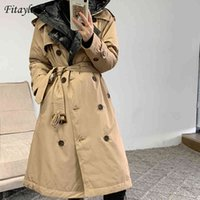 Winter Women White Duck Down Hooded Long Thick Warm Jackets Puffer Feather Female Parka Trench Coat 210512