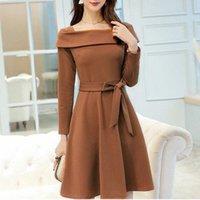 Kadın Elbise Takım Elbise Bayanlar Ofis Kıyafeti İş Iş Kalıcı Uzun Kollu Bahar Sonbahar A-Line Zarif Günlük Elbiseler Kadın Vestidos Z82T #