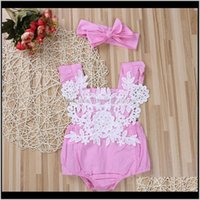Sets Clothing Baby, Kids & Maternityborn Baby Girl Romper Lace Floral Jumpsuit + Headband Outfits Set Clothes Drop Delivery 2021 Wgilf