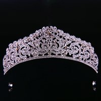 Gold Plated Wedding Crown Bridal Bridesmaid Flower Girls Crystal tiara Rhinestone crown headband Wedding Dress Tiara