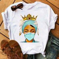 Maycaur Nurse Queen Summer 90s Women Tops Ullzang Harajuku Ture Hero Round Neck Sleeves Shirt ,Drop Ship