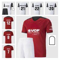 Yetişkin + Çocuklar Kiti Kısa 2021 2022 Valencia CF Futbol Formaları Erkek Setleri C.Soler Gaya 21 22 Guedes Manu Vallejo Erkek Takım Elbise Futbol Gömlek