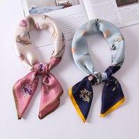 وشاح مربع صغير تقليد الحرير 70 النسخة الكورية من الأزياء البرية الرجعية الطباعة مزاجه الجلد الصديقة و الأوشحة تنفس