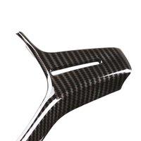 Interior Steering Wheel Trim Cover Carbon Fiber Look DIY Decor ABS Plastic Appearances Covers