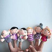 6pcs / lot 가족 손가락 인형 세트 미니 플러시 아기 장난감 소년 소녀 손가락 인형 교육 이야기 손 인형 천으로 인형 장난감