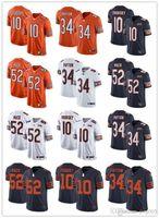 "Mens Womens Youth Chicago ""Bears"" 32 David Montgomry Bianco 52 Khalil Mack Arancione 9 Nick Foles Navy Customs Foots Jerseys"