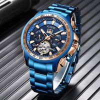Armbanduhren 2021 Lige Männer Mechanische Uhr Automatische Tourbillon Mode Uhren Edelstahl Wasserdichte Sport Hohe Qualität