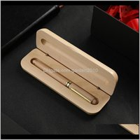Einzelne Stift Retro Hohe Qualität Holz Bleistiftkoffer Leere Holz Geschenkboxen WB2548 MTEEV CGF4I