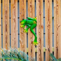 Garden Decorations Decoration Metal Green Frog Outdoor Wall For Home And Miniatures Statues Sculptures Fairy