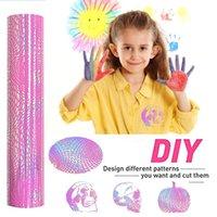Window Stickers Sheet Glitter Shiny Heat Transfer Iron-on Press Htv T-shirt Textiles Cricut Iridescent Craft Cutter Film Patches