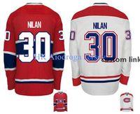 2016 Novo, 2015 Montreal Canadiens Vintage Chris Nilan # 30 Premier Mens Gelo Hóquei Jersey Barato - Ered e 2014 Jede Branca Clássica.