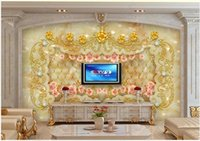 3d Wallpaper Custom Po Mural European Style Jewelry Jade Relief Flower Living Room Decoration For Walls In Rolls Wallpapers